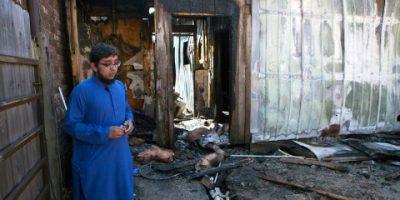 Quba mosque, burned mosque
