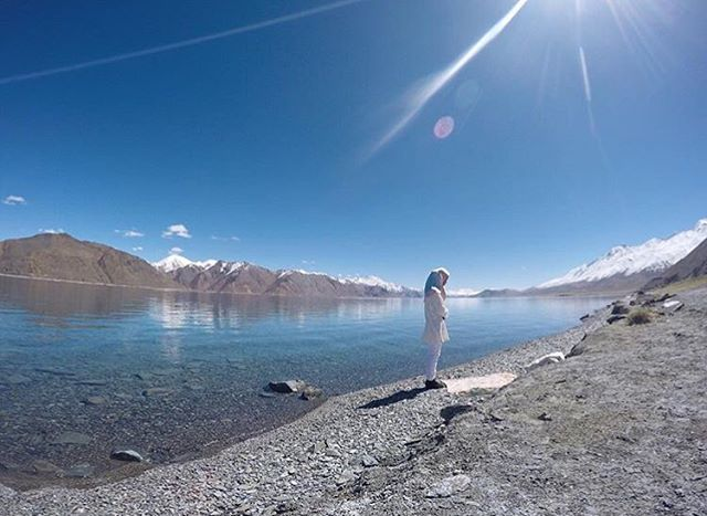 Pangongsjön i Himalaya