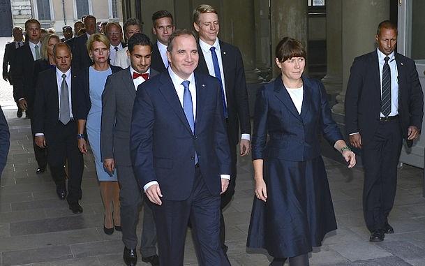 Löfven Cabinet in Stockholm Palace 2014.